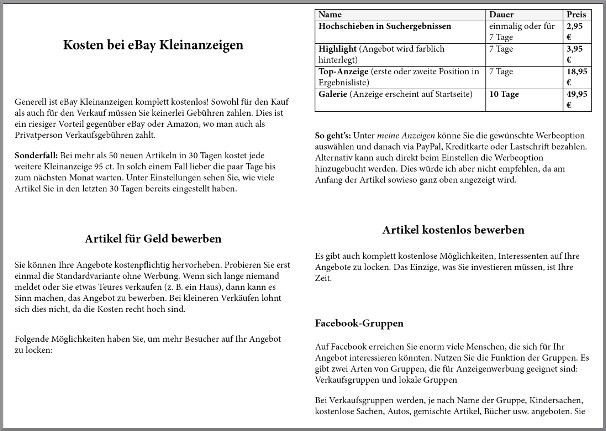 eBook-Erstellung, eBook-Formatierung